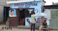 Un nombre impressionnant de salons de coiffure à Brazzaville. Les habitants de cette ville sont très attentifs à leur look